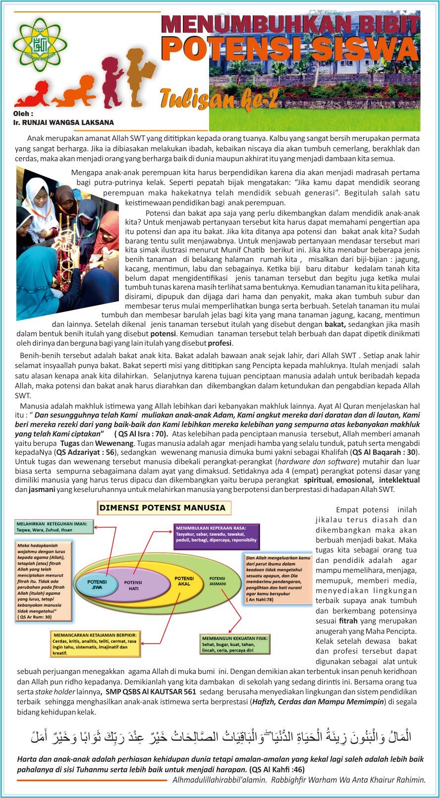 Menumbuhkan Bibit Potensi Siswa | SMP Quranic Science ...